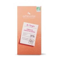 Tablette Bio lait 39% Céréales croustillantes - 85 grs net